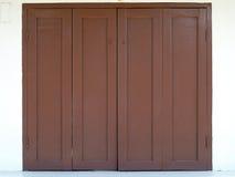 Finestra di legno di Brown Fotografia Stock