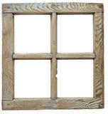 Finestra di legno grunged molto vecchia Fotografia Stock Libera da Diritti