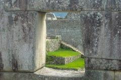 Finestra di Machu Picchu Immagine Stock