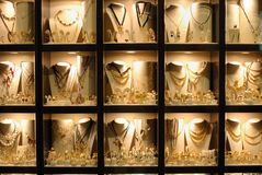 Finestra di memoria dei monili Fotografia Stock Libera da Diritti