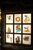 Finestra di natale Fotografia Stock Libera da Diritti