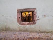 Finestra di pietra d'annata Fotografie Stock