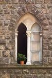 Finestra di pietra in Toscana Fotografie Stock