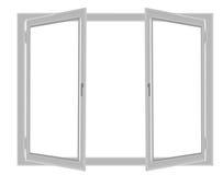 finestra di plastica Fotografia Stock