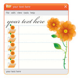 Finestra di rosa arancione Fotografie Stock