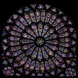 Finestra di Rosa di Notre Dame Fotografie Stock Libere da Diritti