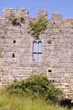 Finestra di rovina del castello Fotografia Stock