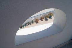 Finestra di Santorini Fotografie Stock Libere da Diritti
