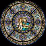 Finestra di Stained-glass 111 Fotografia Stock Libera da Diritti