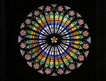 Finestra di Stained-glass Immagine Stock Libera da Diritti