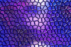 Finestra di stained-glass blu Immagine Stock