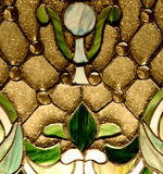 Finestra di stained-glass dell'annata fotografia stock libera da diritti
