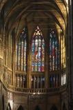 Finestra di Stained-glass nella cattedrale di Vitus del san Fotografie Stock