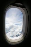 Finestra di un aereo Fotografia Stock