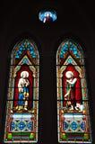 Finestra di vetro in chiesa Immagine Stock