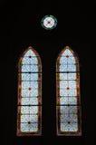 Finestra di vetro in chiesa Fotografie Stock Libere da Diritti