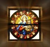 Finestra di vetro della chiesa Immagine Stock
