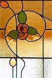 Finestra di vetro della macchia immagini stock libere da diritti