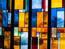 Finestra di vetro della macchia Immagine Stock Libera da Diritti