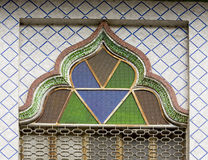 Finestra di vetro della moschea della macchia Immagine Stock