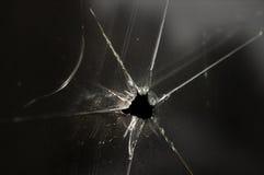 Finestra di vetro fracassata Fotografia Stock Libera da Diritti