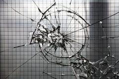 Finestra di vetro frantumata Fotografie Stock