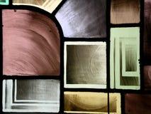 Finestra di vetro I della macchia fotografia stock
