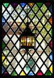 Finestra di vetro macchiata Fotografia Stock Libera da Diritti