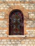 Finestra di vetro macchiata Immagini Stock
