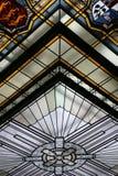 Finestra di vetro macchiata, Immagini Stock