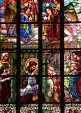 Finestra di vetro macchiata Immagine Stock