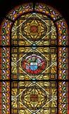 Finestra di vetro macchiata (Brittany, Francia) Fotografia Stock Libera da Diritti
