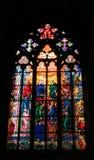 Finestra di vetro macchiata in chiesa Fotografia Stock Libera da Diritti