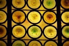 Finestra di vetro macchiata con i cerchi 2 Fotografie Stock