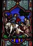 Finestra di vetro macchiata del Martin del san Fotografia Stock Libera da Diritti
