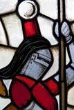 Finestra di vetro macchiata dell'oggetto d'antiquariato Fotografia Stock Libera da Diritti