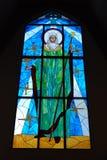 Finestra di vetro macchiata della Mary della madre Fotografia Stock Libera da Diritti