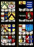 Finestra di vetro macchiata della vecchia chiesa Immagini Stock