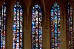 Finestra di vetro macchiata. descrizione Fotografie Stock Libere da Diritti