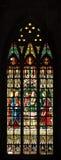 Finestra di vetro macchiata gotica Fotografie Stock Libere da Diritti