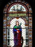 Finestra di vetro macchiata - st catherine Immagine Stock