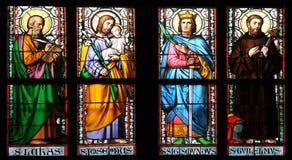Finestra di vetro macchiata, St.Vitus fotografia stock libera da diritti