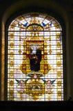 Finestra di vetro macchiato Fotografie Stock Libere da Diritti