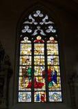 Finestra di vetro macchiato Immagini Stock