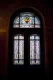 Finestra di vetro macchiato Fotografia Stock