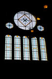 Finestra di vetro macchiato. Fotografia Stock