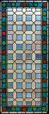 Finestra di vetro macchiato Immagine Stock