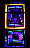 finestra di vetro macchiato in chiesa dell'annuncio Nazarerth Fotografia Stock Libera da Diritti