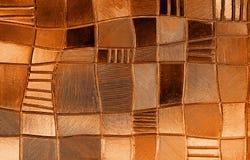 Finestra di vetro macchiato con il modello irregolare del blocco in una tonalità Fotografia Stock