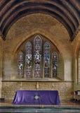 Finestra di vetro macchiato & dell'altare Fotografie Stock